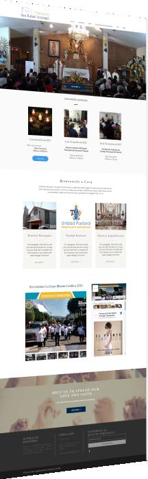 pagina web para Parroquias